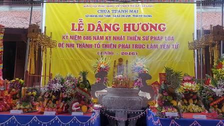 Khai hội Chùa Thanh Mai và tưởng niệm Thiền sư Pháp Loa Đồng Kiên Cương.